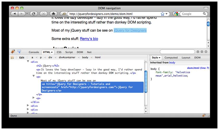 Debugging Tools | jQuery for Designers - Tutorials and screencasts