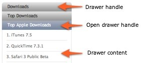Apple downloads drawer sample